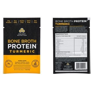 Ancient Nutrition Bone Broth Protein Turmeric Flavor (15 Packets)
