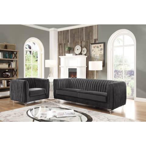 Chic Home Priscilla Plush Velvet Modern Sofa