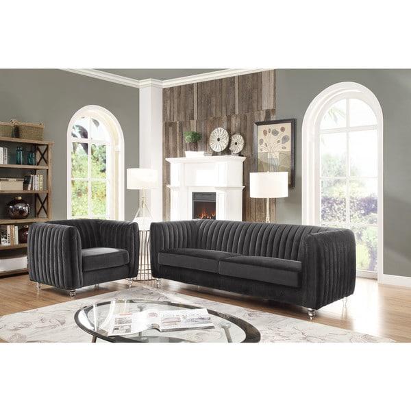 Chic Home Priscilla Plush Velvet Modern Sofa. Opens flyout.