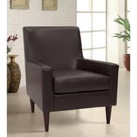 Emma Arm Chair - Leatherette Walnut