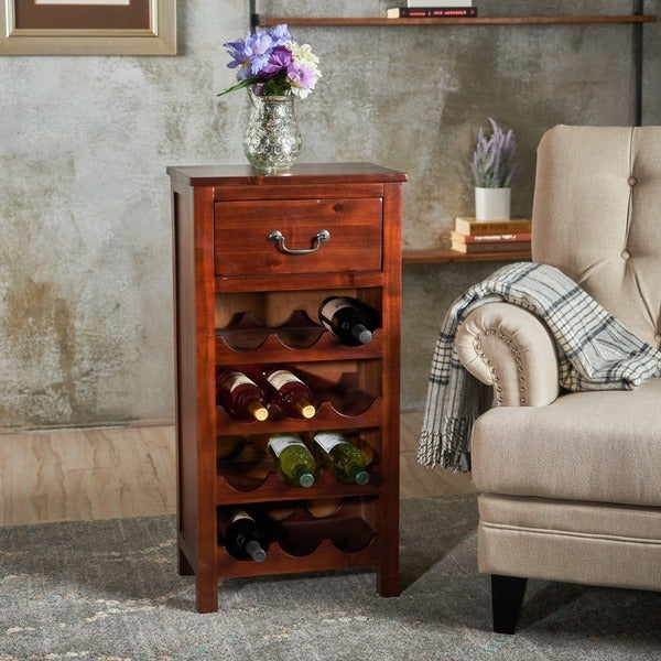 Nice Eirinn Acacia Wood Wine Rack Cabinet By Christopher Knight Home