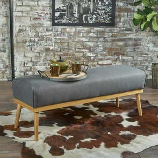 Naiad Mid Century Fabric Ottoman Bench by Christopher Knight Home