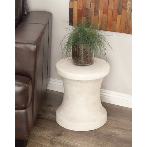 Studio 350 Fiber Clay Foot Stool 14 inches wide, 16 inches high