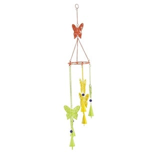 Studio 350 Metal Butterfly Windchime 5 inches wide, 32 inches high