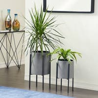 "Metal Planter Set of 2, 19 inches, 23""H by Studio 350"