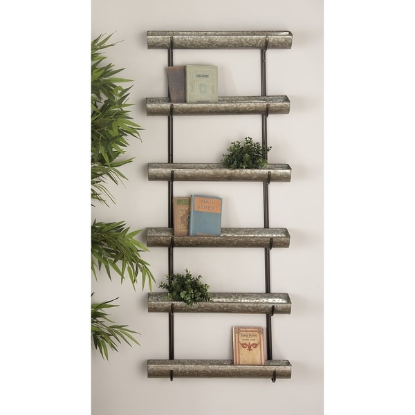 Farmhouse 58 x 24 Inch 6-Tiered Metal Wall Planter by Studio 350