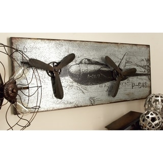 Studio 350 Metal Airplane Plaque 46 inches wide, 18 inches high