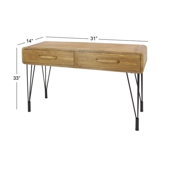 Wood Metal Console Table 45 Inches Wide