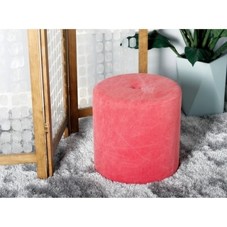 Studio 350 Suar Wood Foot Stool 19 inches wide, 16 inches high