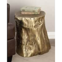 Eclectic 19 x 18 Inch Tree Trunk Fiberglass Foot Stool by Studio 350