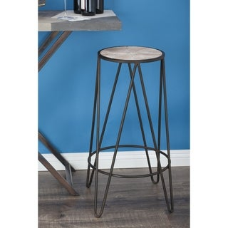 Studio 350 Metal Wood Stool 12 inches wide, 30 inches high