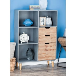 Studio 350 Wood Storage Shelf 33 inches wide, 48 inches high