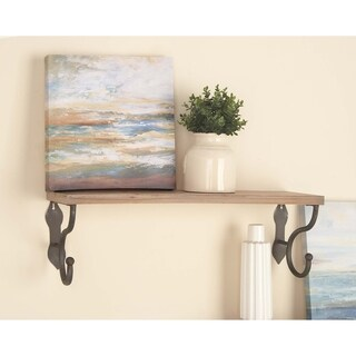 Studio 350 Wood Metal Wall Shelf 32 inches wide, 10 inches high