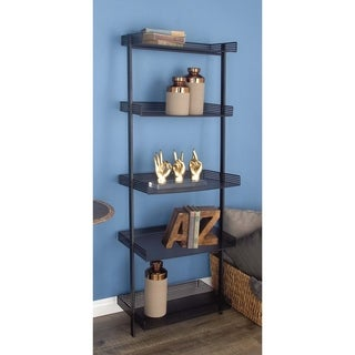 Studio 350 Metal Black Leaning Shelf 23 inches wide, 62 inches high