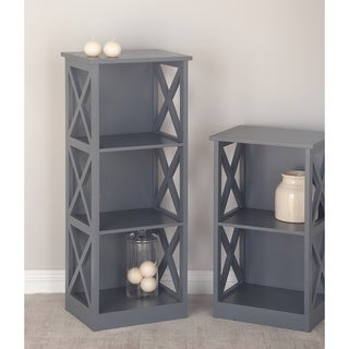 Studio 350 Wood Gray Shelf 16 inches wide, 40 inches high