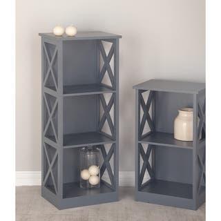 Studio 350 Wood Gray Shelf 16 Inches Wide 40 High