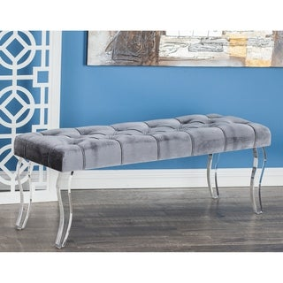Studio 350 Wood Acrlic Velour Bench 48 inches wide, 17 inches high