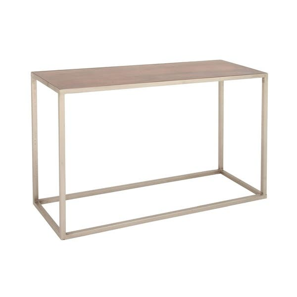 Studio 350 Metal Wood Console Table 48 Inches Wide 30 High