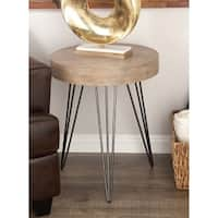 Studio 350 Metal Wood Accent Table 20 inches wide, 24 inches high