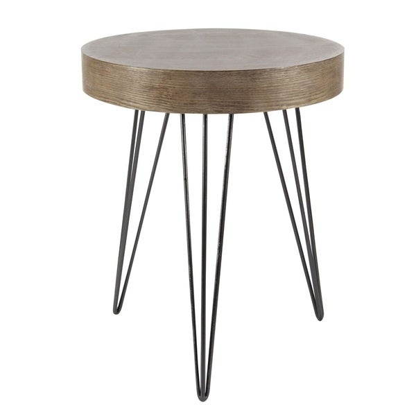 Studio 350 Metal Wood Accent Table 20 Inches Wide 24 High