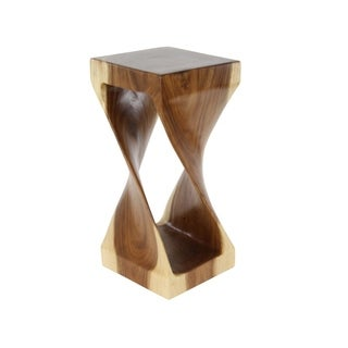 Studio 350 Suar Wood Side Table 12 inches wide, 25 inches high