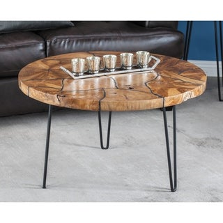 Studio 350 Teak Coffee Table 32 inches wide, 19 inches high