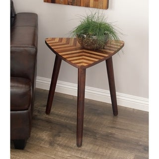 Attractive Studio 350 Wood Triangle Accent Table 20 Inches Wide, 22 Inches High