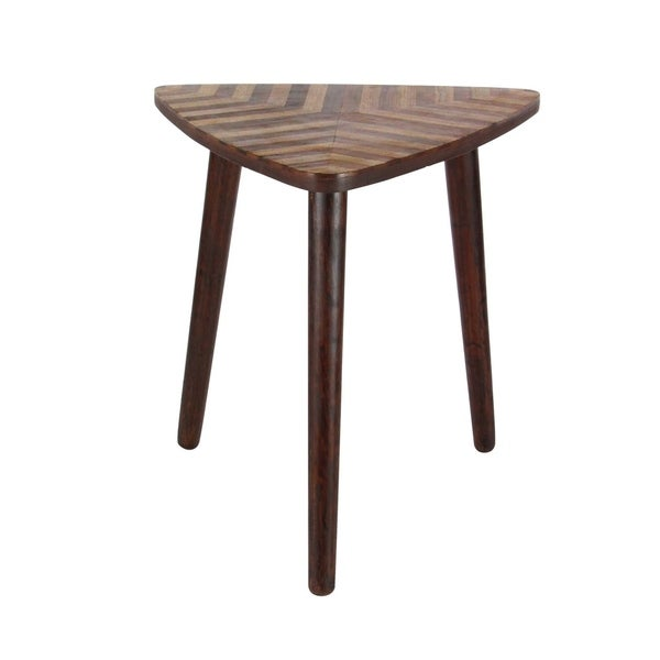 Studio 350 Wood Triangle Accent Table 20 Inches Wide 22 High