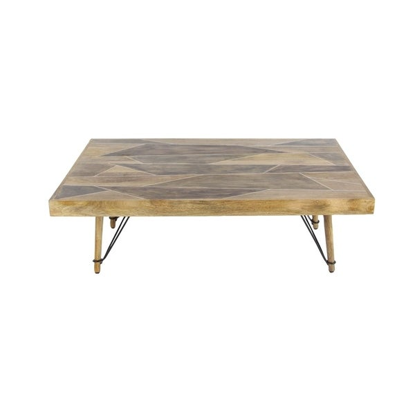 Studio 350 Wood Metal Coffee Table 47 inches wide, 16 inches high