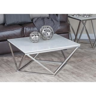Marble coffee console sofa end tables for less for Coffee tables 18 inches wide