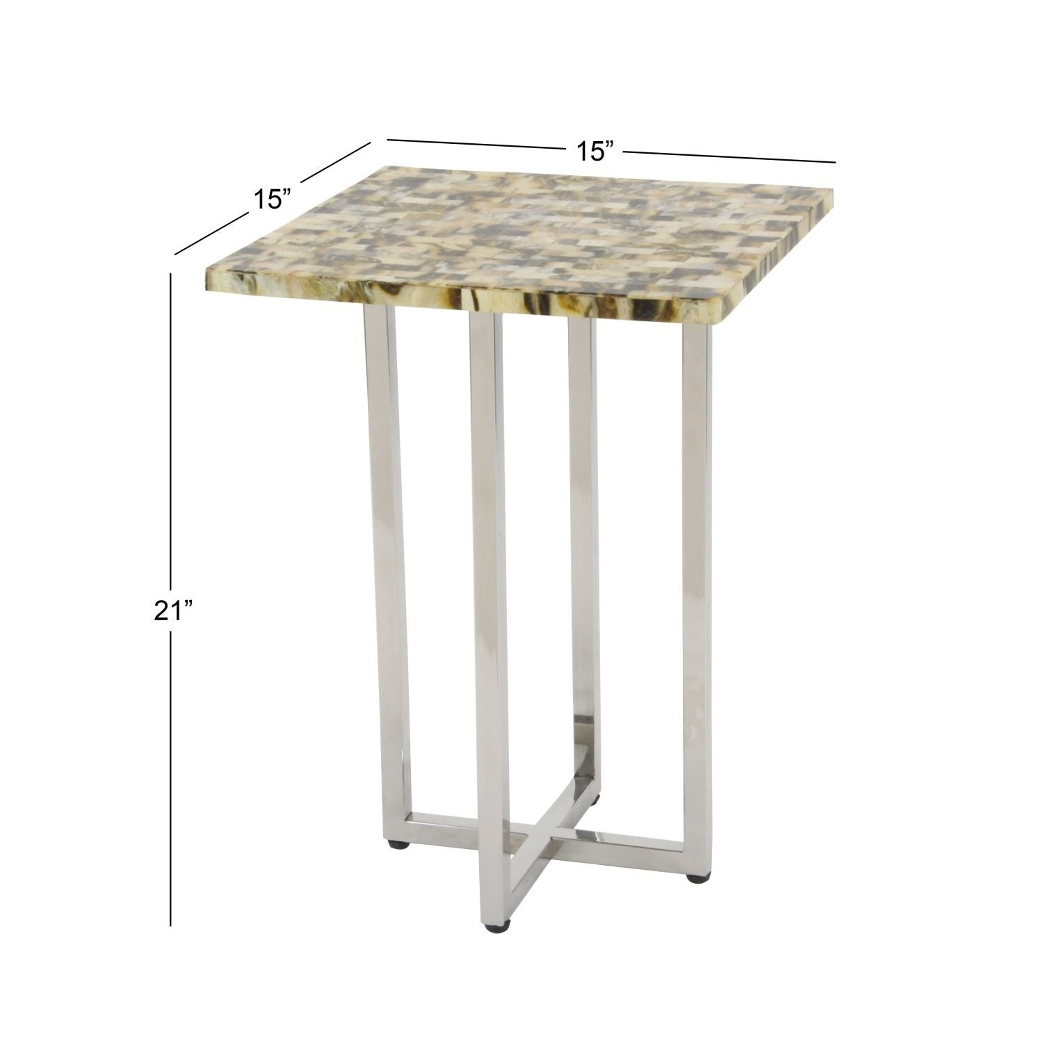 Shop Studio 350 Stainless Steel Inly Accent Table 15 inches wide