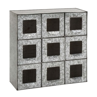 Studio 350 Metal 9 Drawers 18 inches wide, 18 inches high