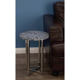Studio 350 Stainless Steel Bone Rd Table 15 inches wide, 21 inches high