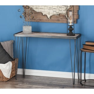 Studio 350 Metal Wood Console Table 39 inches wide, 29 inches high