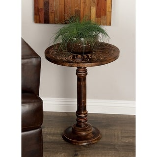 Studio 350 Wood Elephant Accent Table 17 inches wide, 21 inches high