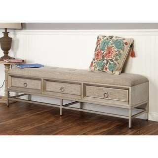 Studio 350 Metal/Wood 66-inches Wide x 19-inches High Storage Bench