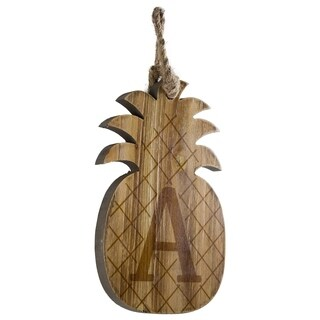 Wood Pineapple Hanging Initial Wall Letter A