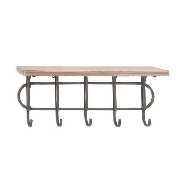 Studio 350 Wood Metal Wall Shelf 28 Inches Wide 12 High