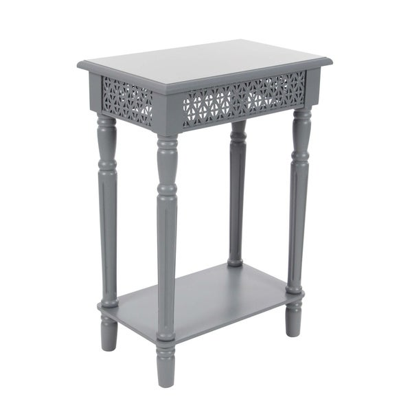 Studio 350 Wood Grey Side Table 18 Inches Wide, 27 Inches High