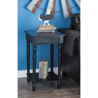 Studio 350 Wood Black Side Table 16 inches wide, 26 inches high