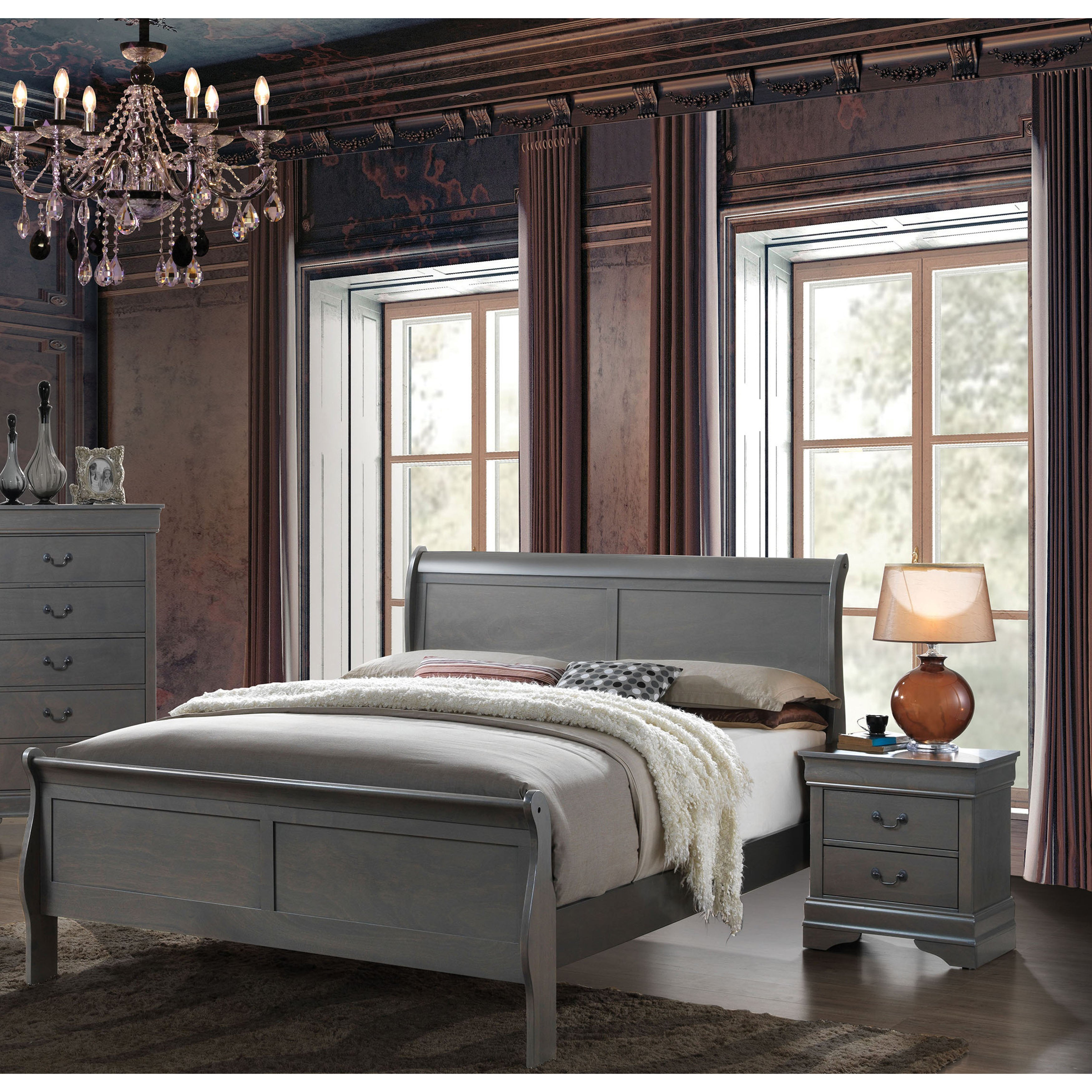 Furniture Of America Mayday Ii Classic Twin Size Wooden Sleigh Bed  # Muebles Pestana