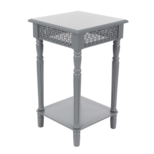 Studio 350 Wood Grey Side Table 16 inches wide, 26 inches high