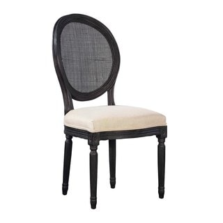 Colonna Woven Rattan Back Side Chairs (Set of 2)