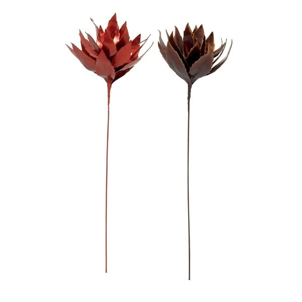 Studio 350 Eva Artificial Flower Set of 2, 9 inches wide, 37 inches