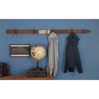 Studio 350 Wood Metal Ski Hook 67 inches wide, 3 inches high