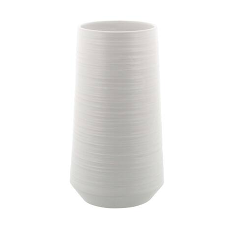 Strick & Bolton Martha Ceramic Vase 6 inches wide, 12 inches high