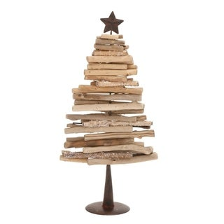 Studio 350 Driftwood Metal X'Mas Tree 11 inches wide, 28 inches high