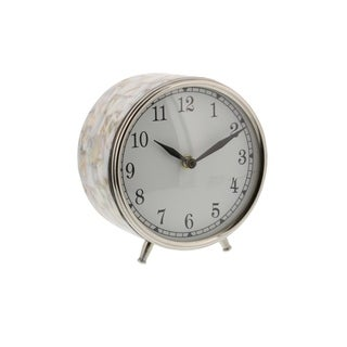 Clay Alder Home Waccamaw Stainless Steel Table Clock (5 inches wide, 6 inches high)