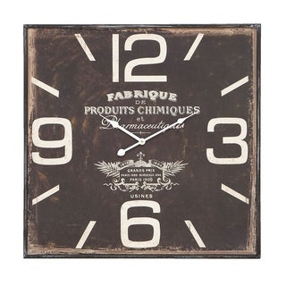 Studio 350 Wood Wall Clock 23 inches high, 23 inches wide