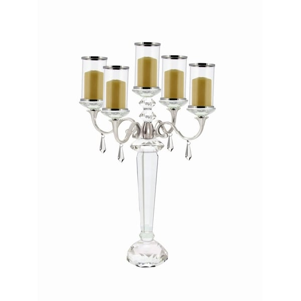 Studio 350 Crystal Candle Holder 14 inches wide, 22 inches high